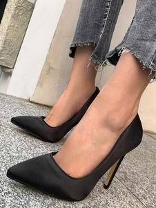 Donna Tacchi Alti Scarpe a punta tacco a spillo Chic Nero Pumps