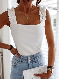 Verão Cami Top Cotton Casual Mistura Mulheres Camis