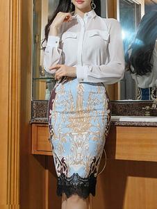 Комплект из двух частей Белая рубашка с юбкой