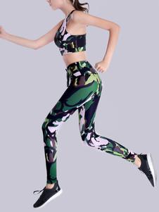 Camo Activewear Наборы йоги Спортивный бюстгальтер с леггинсами