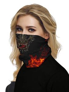 Маска для лица Бандана Бесшовная крышка для рта Dragon 3D Print Tube Headwear