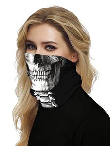 Bandana facial Mascarilla sin costuras Tapa bucal Cráneo Tubo de impresión 3D Sombreros