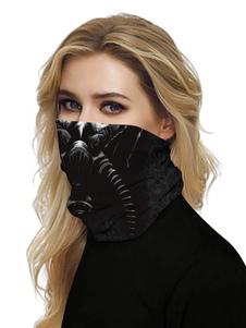 Mascarilla Cubierta bucal Bandanas Respirador sin costuras Tubo de impresión 3D Sombreros