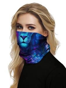 Маска для лица Ветрозащитный шарф Солнцезащитный крем с принтом льва Дышащая бандана