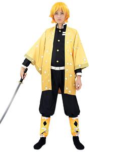 شيطان القاتل Kimetsu لا Yaiba Agatsuma Zenitsu كيمونو فقط تأثيري حلي