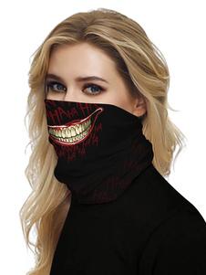 Черная маска Рот Обложка банданы Бесшовные крышки маски Sun Dust Bandanas