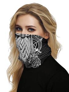 Бесшовные Маска для лица Рот Обложка банданы Черная крышка маска Sun Dust Bandanas