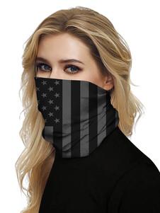 Черная маска Рот Обложка банданы Бесшовные крышки маски Sun Dust Tube Bandanas