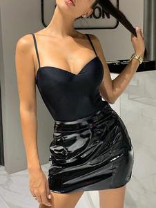 Top donna sexy senza schienale con body senza maniche
