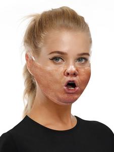 Accesorios para disfraces Máscara Cara divertida Imprimir