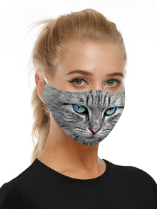 Accesorios para disfraces Máscara Cat Print