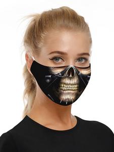 Accesorios de disfraces Máscara Calavera de Halloween Imprimir