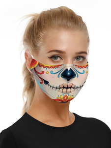 Accesorios para disfraces Máscara Calavera de azúcar Imprimir