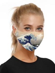 Accesorios para disfraces Máscara Wave Print