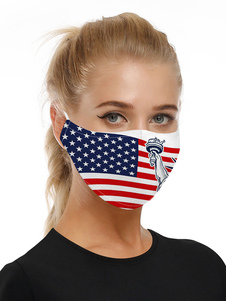 Accesorios para disfraces Máscara 4 de julio Estatua de la Libertad Imprimir