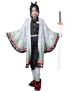 Demon Slayer Kimetsu No Yaiba Kochou Shinobu Kimono Solo costume cosplay anime