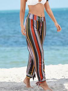 Pantalones encubiertos Pantalones estampados Traje de baño de playa