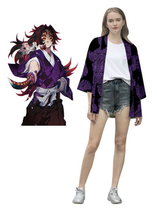 Demônio assassino: Kimetsu Sem Yaiba Kokushibou Tsugikuni Michikatsu Kimono Apenas Anime Cosplay