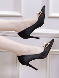 delle donne delle pompe a punta le dita dei piedi tacco a spillo Perle Classic High-Top pompe delle donne