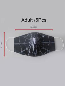 Máscara facial hombre araña para adultos en el 5pcs