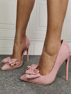 Le donne di Pompe a punta le dita dei piedi tacco a spillo archi Chic Low-Top rosa alte pompe tacco