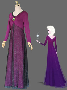 Frozen 2 Elsa Cosplay Costume Nightgown