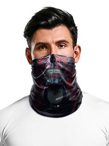 Accesorios de ciclismo Bandana sin costuras Velo facial Motocicleta Montar motociclista Cráneo Imprimir Máscara de tubo al aire libre