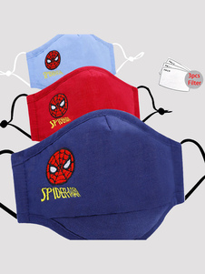 Mascarilla para niños Spiderman Pattern Face Cover con filtro 3pcs