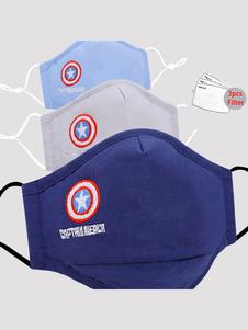 Cubierta facial para niños Capitán América Patrón Algodón Mascarilla