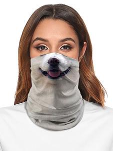 Accesorios de ciclismo Cubierta facial Bandana sin costuras Impresión de perro Motocicleta Máscara de tubo al aire libre