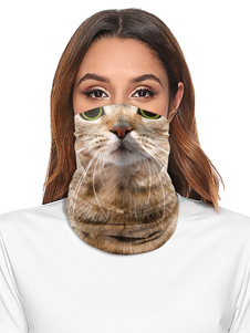 Accesorios de ciclismo Cubierta facial Bandana sin costuras Impresión de gato Motocicleta Máscara de tubo al aire libre