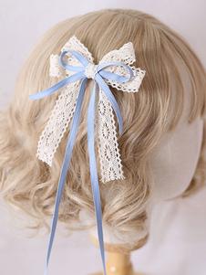 Accessori per capelli Lolita dolce in pizzo con fiocchi Lolita
