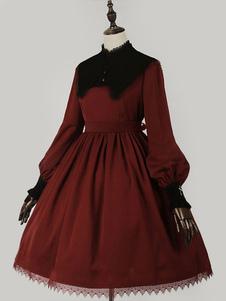 Классический Лолита OP платье с длинным рукавом Лолита платье One Piece