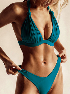 الدعاوى النساء ملابس السباحة بيكيني الرسن الرباط حتى صيف شاطئ سباحة