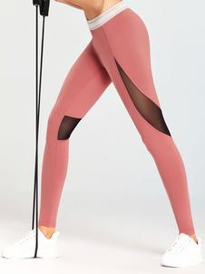 طماق للنساء لينة اللون كتلة البوليستر سروال اليوغا