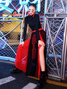 ジャズダンス衣装中国風トップスカートダンスウェア