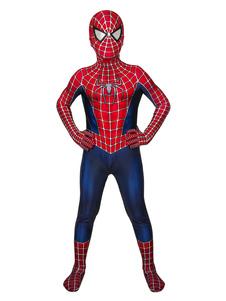 Marvel Spider Man Kid Zentai Suit Disfraz de Cosplay Halloween