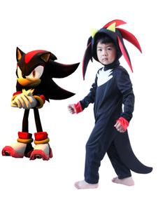 Sonic, o ouriço, sombra, o ouriço, macacão, fantasia, cosplay, Halloween