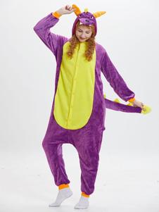 Disfraz Carnaval Kigurumi Adulto Dinosauria estilo unisex para adultos morado Halloween Carnaval