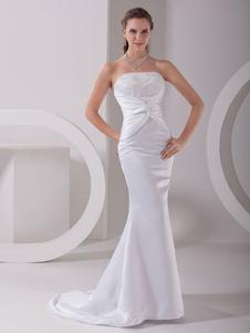 Ritorto bianco da sposa abito da sposa in raso