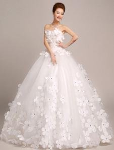 Vestido de noiva tipo princesa em forma de princesa sem fitas Lace up sem mangas Sem Anágua Sim Com Cauda 1m