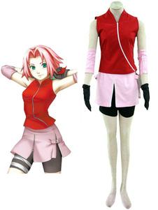 Costume Carnevale Costume cosplay per Halloween 2020 Naruto Shippuden Haruno Sakura