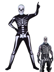 Carnevale Skull Trooper Costume Fortnite Cosplay Body Gioco Costumi Cosplay