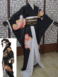 Assassino de demônios: Kimetsu não Yaiba Cosplay Kibutsuji Muzan versão feminina traje de quimono