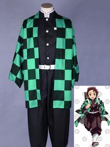 Costume Carnevale Demon Slayer: Kimetsu No Yaiba Kamado Tanjirou Kimono Anime Cosplay Costume