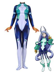 Disfraz Carnaval Boku No Hero Academia Cosplay Nejire Hado Blanco Lycra Spandex Mono Disfraces de cosplay Carnaval