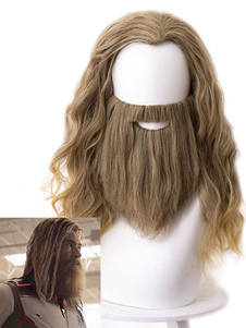 The Avengers 4 Endgame Cosplay Fat Thor Odinson Brown Cosplay Wig