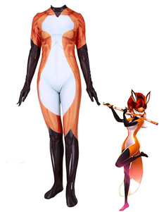 Costume Carnevale Cosplay Miraculous Ladybug Fox Lycra Spandex Outfit Costume Cosplay