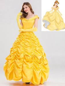 Disfraz Carnaval Disney Cartoon Cosplay Princess Belle La bella y la bestia Cosplay Dress Carnaval