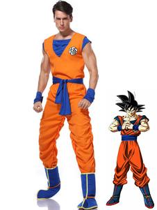 Costume Carnevale Costume cosplay Dragonball Son Goku 2 pezzi Costume cosplay